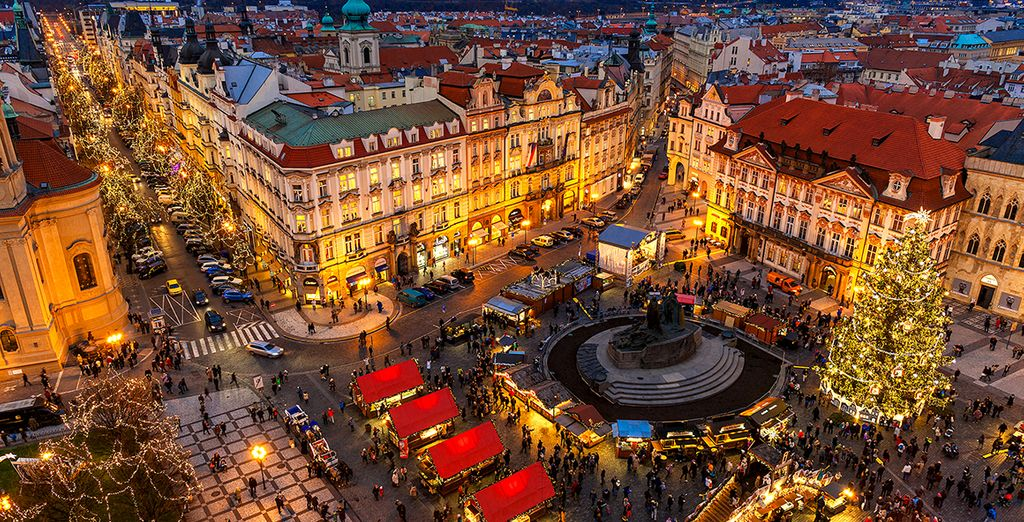 Those visiting over Christmastime can meander through the twinkling Christmas markets