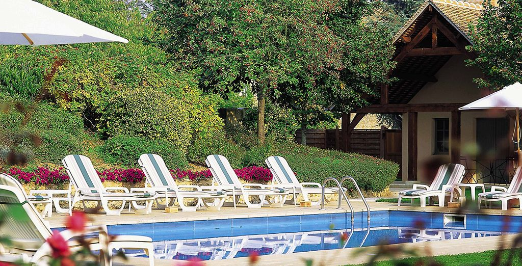 Take a dip in the cooling waters of the outdoor pool