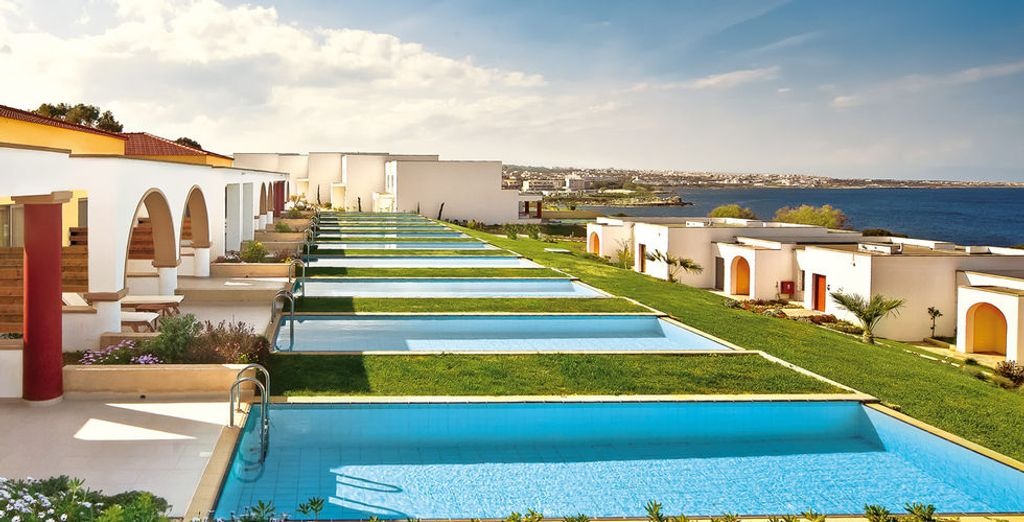 Stay in a Junior Suite with a Sea view and a Private Pool