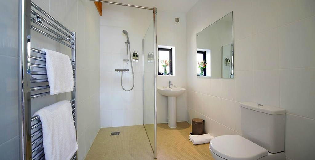 With a well equipped bathroom