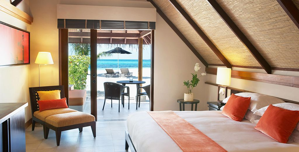Where you are never far from the pristine sands in a Beach Pavilion Room