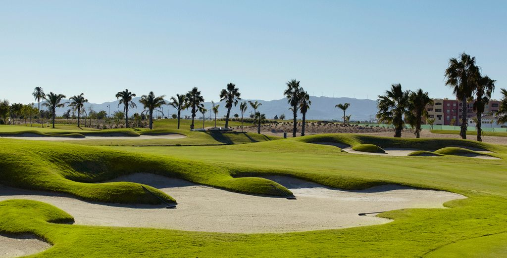 Or practice your swing on the sprawling golf grounds