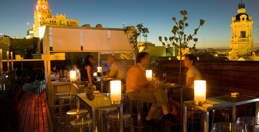 Then head up to the rooftop terrace