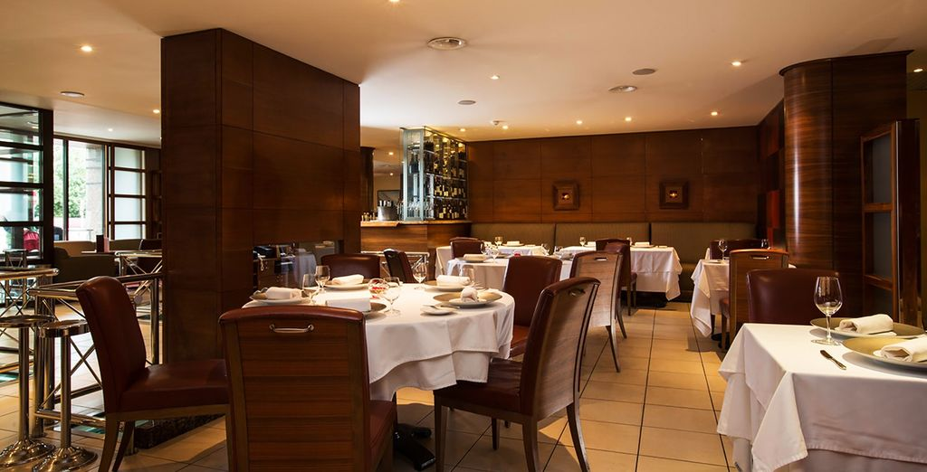 And dine in elegant surroundings