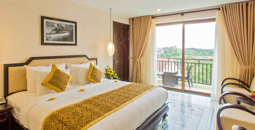 And inviting rooms (Pictured: Hoi an silk boutique)