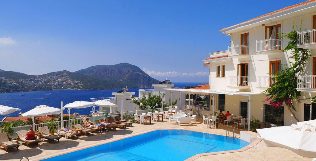 Staying at the charming boutique Rhapsody Hotel - Hotel Rhapsody 4* Kalkan