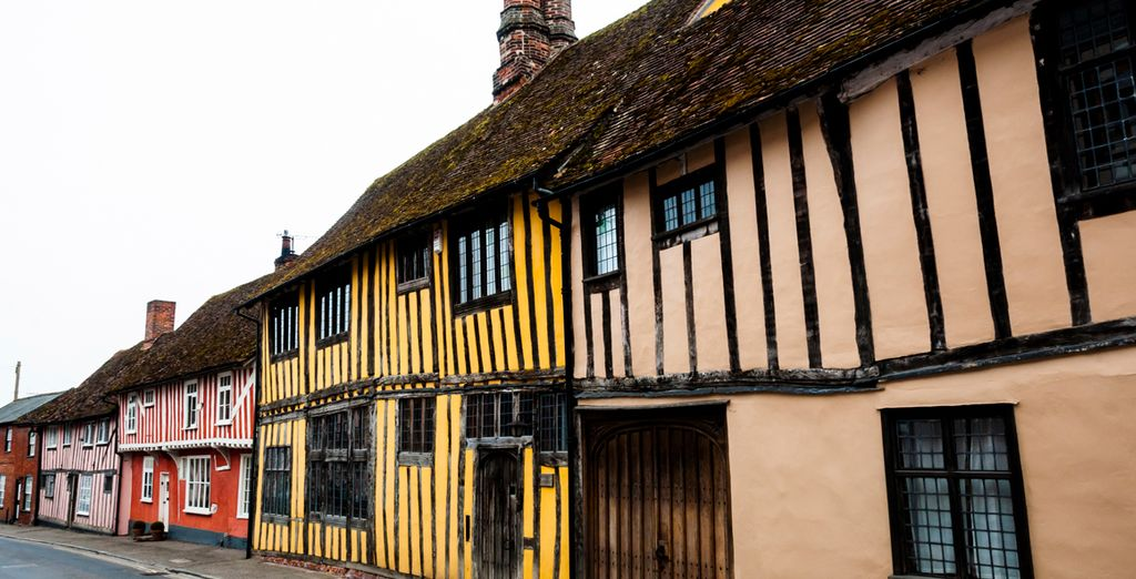 You're around the corner from the quintessential timber buildings of Levenham