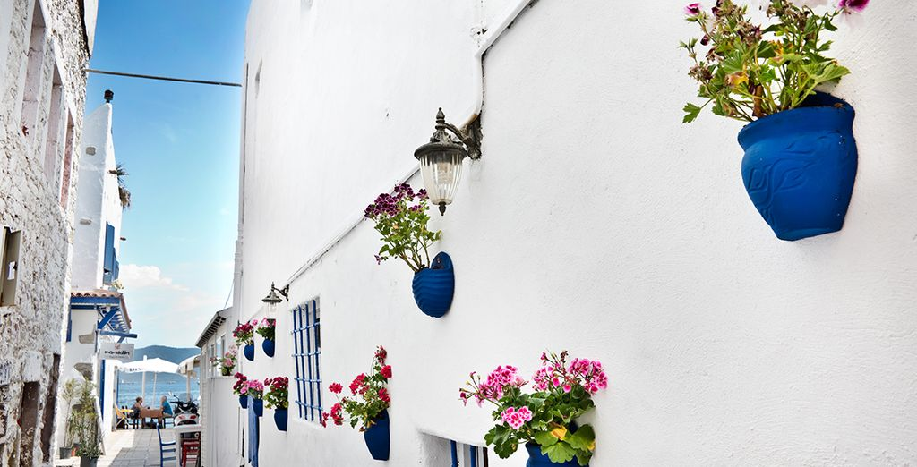Just a short drive from the city of Bodrum with its pretty whitewashed walls and quaint alleys