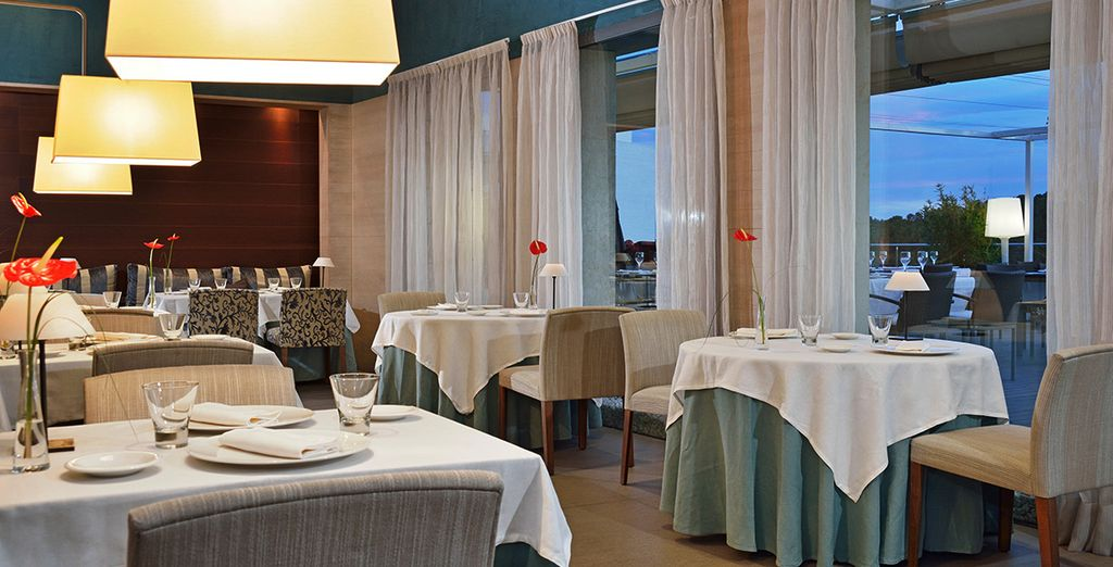 Dine in sophisticated surroundings