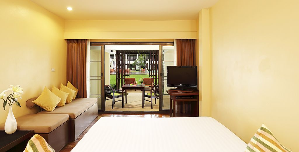 Our offer includes a complimentary upgrade to a Grand Deluxe Garden Room