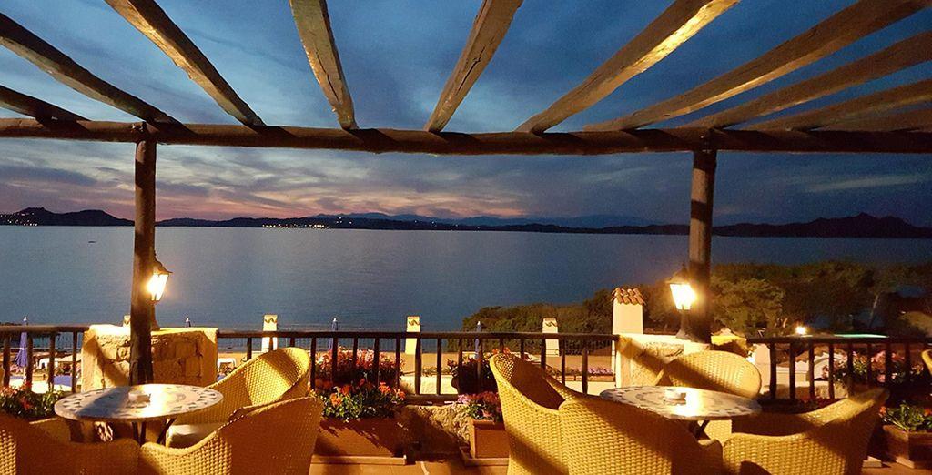 Enjoy a romantic al fresco dinner...