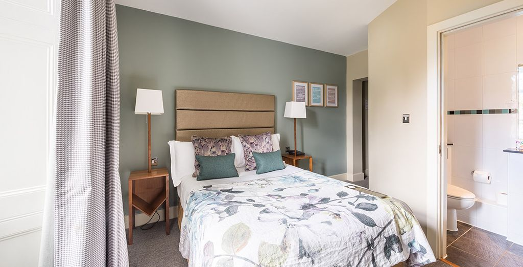 And shown to one of the 77 uniquely designed guestrooms