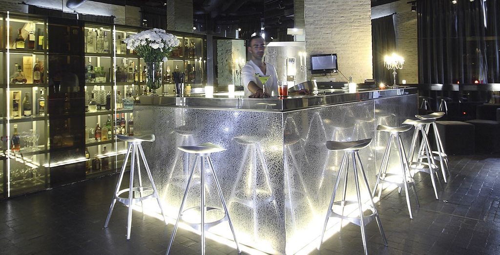 Take a drink in the stylish bar