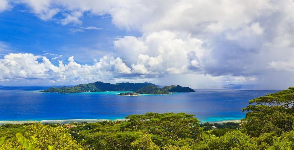 In the paradise Seychelles islands