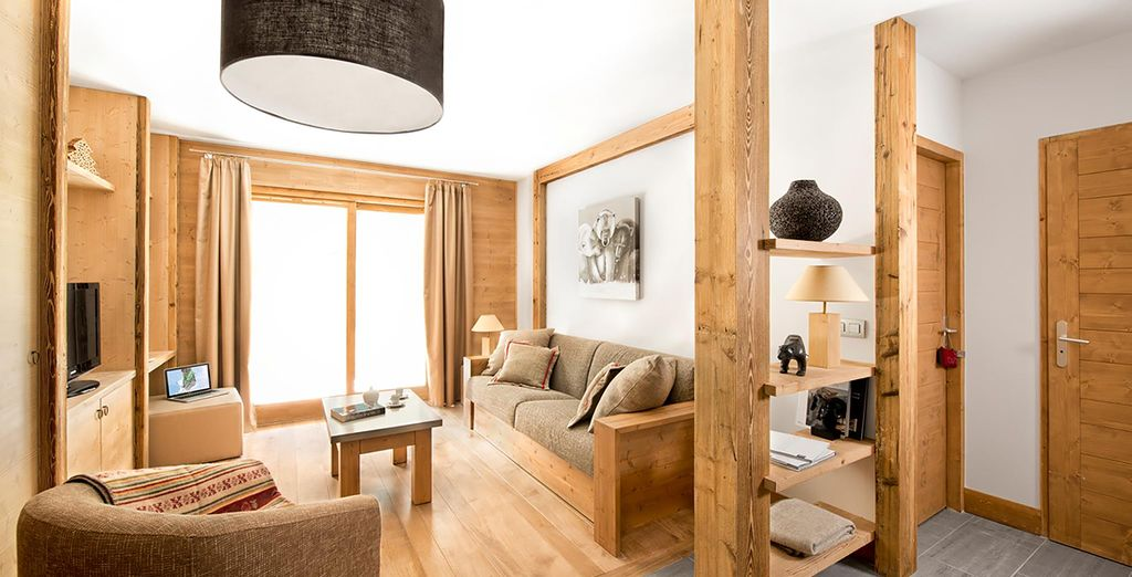 Book a spacious apartment for up to 6 adults
