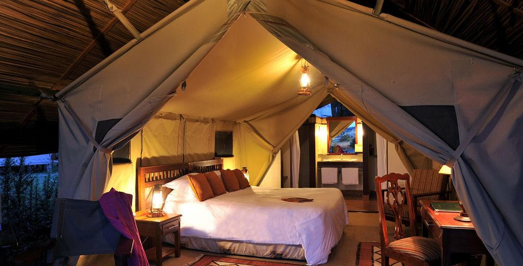 In characterful surroundings (pictured: Sweetwater Serena Lodge)