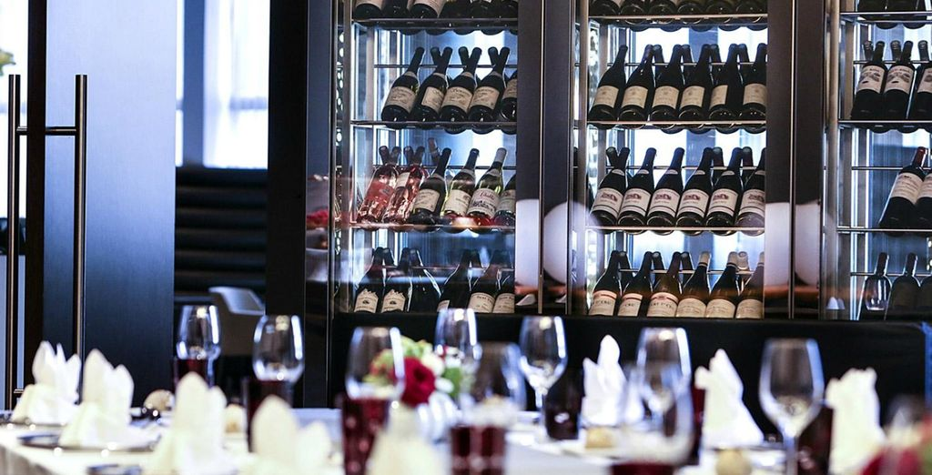 Accompanied by the hotel's extensive wine collection