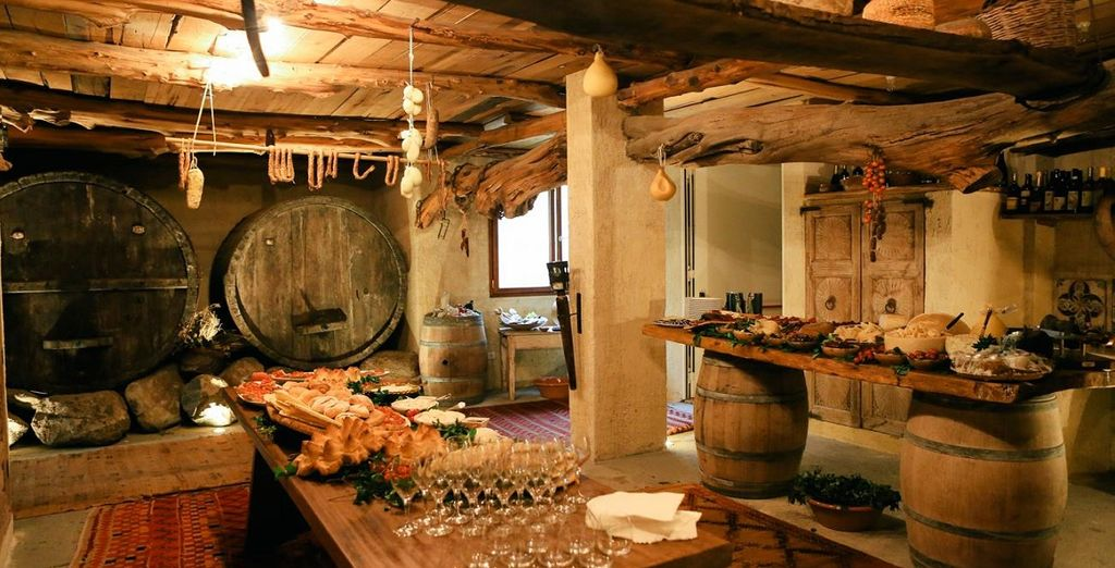 Taste local wine in the hotel's cellars