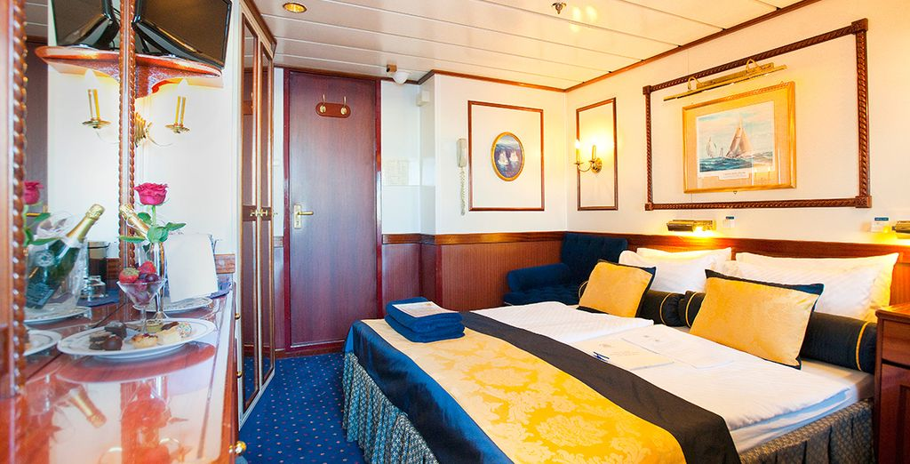 Our members have a choice of 3 cabins