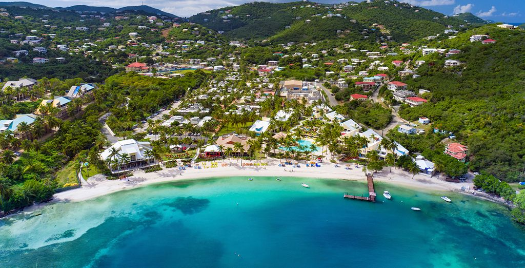 Sailing into picturesque bays (pictured: St. Thomas, US Virgin Islands)