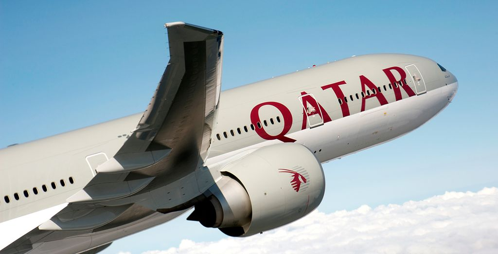 Flights included with Qatar Airways