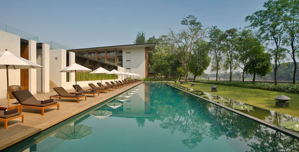 Relax by the hotel's pools