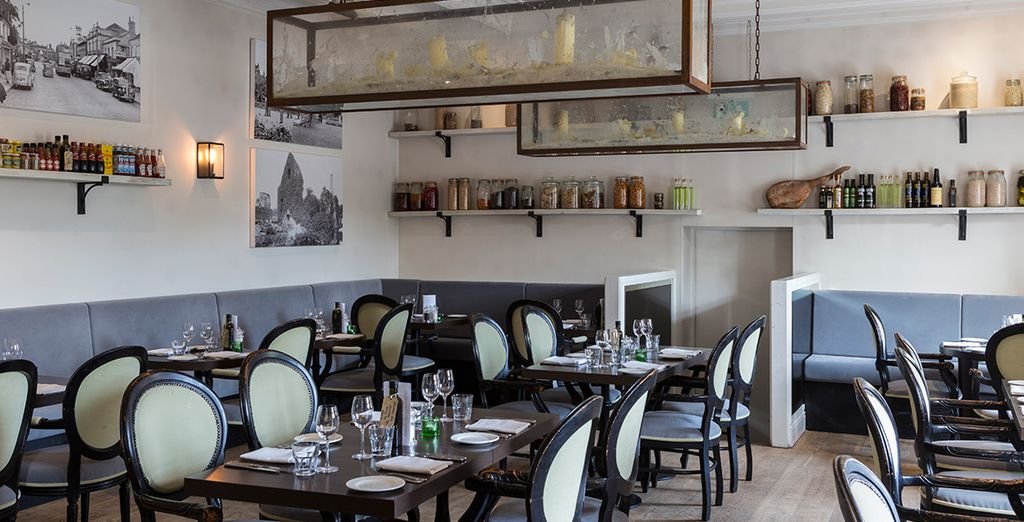 Dine in stylish surroundings