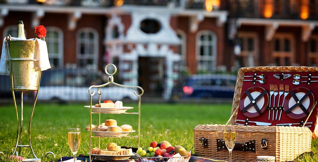 Enjoy a picnic spread