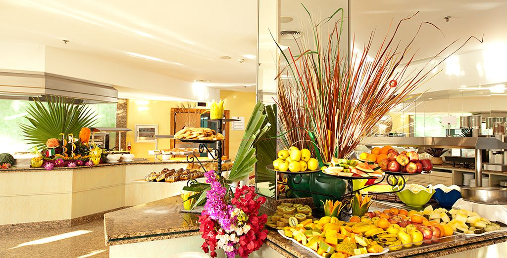 Tuck into an abundance of food during your all inclusive stay