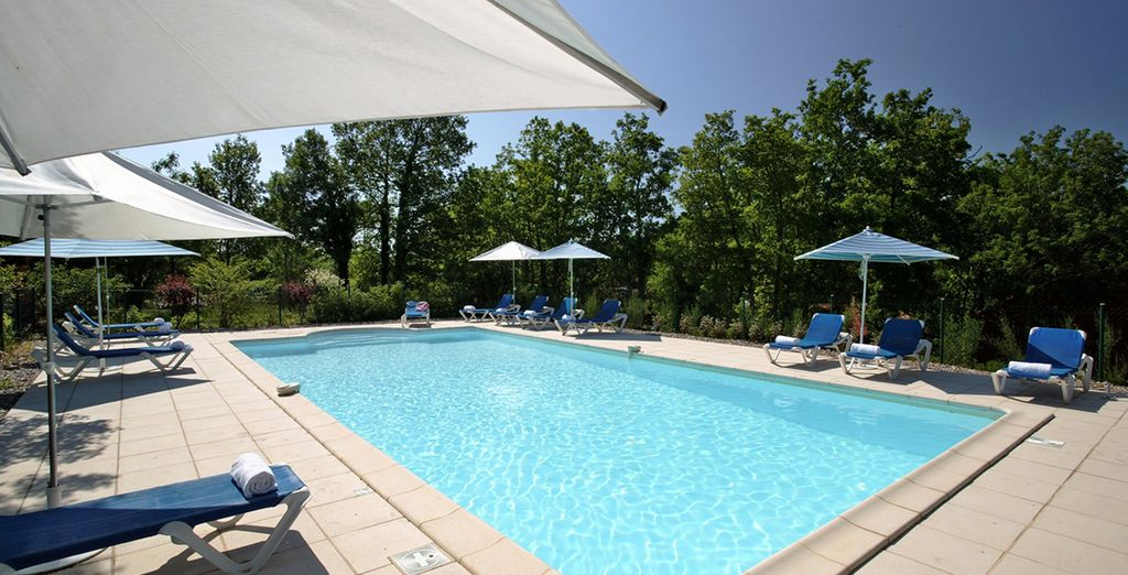 Cap off your stay in the Dordogne Valley with a dip in the pool