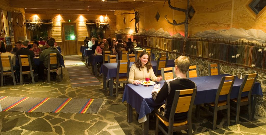 Enjoy delicious meals during your full board stay