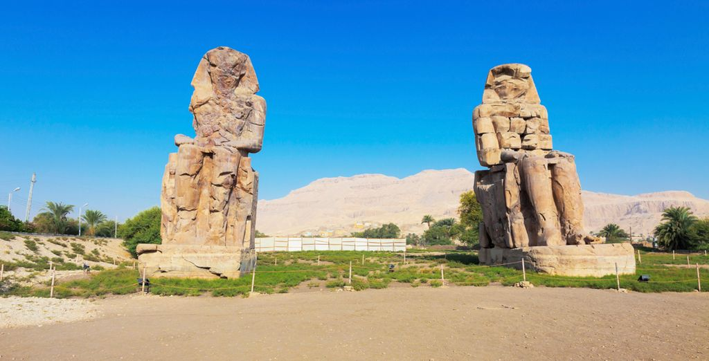 Proceed to fascinating sites such as the Colossi Memnon