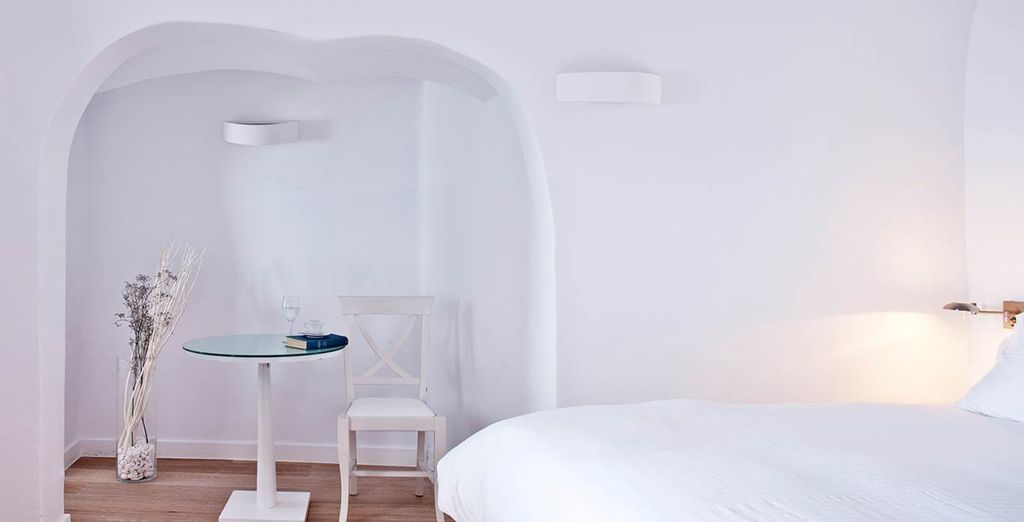 Stay in a fresh, minimalist room