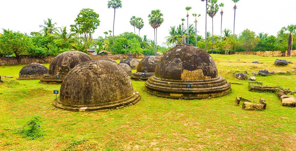Your trip will take you to unmissable landmarks, like the Kandarodai stupas