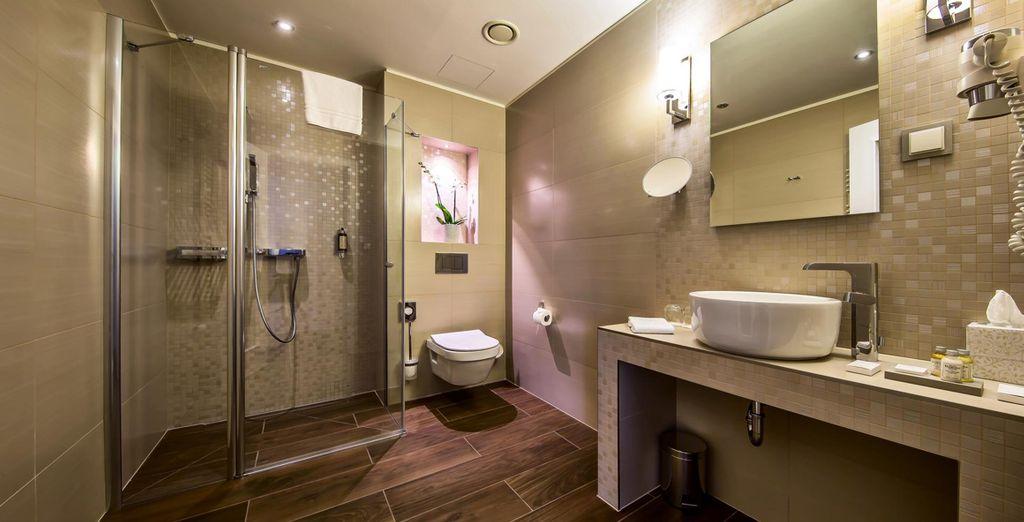 Each room features elegant amenities