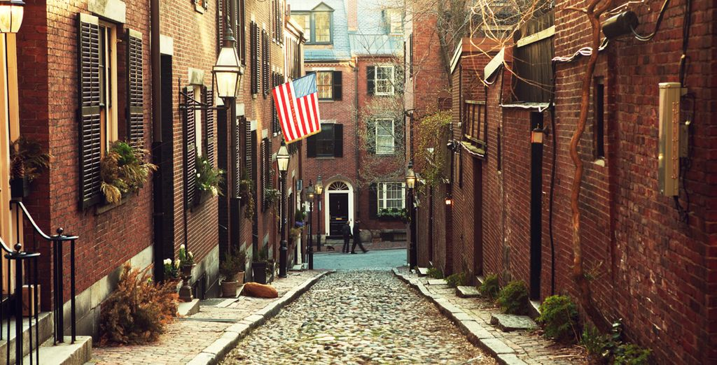 End your trip roaming the cobbled streets of Boston
