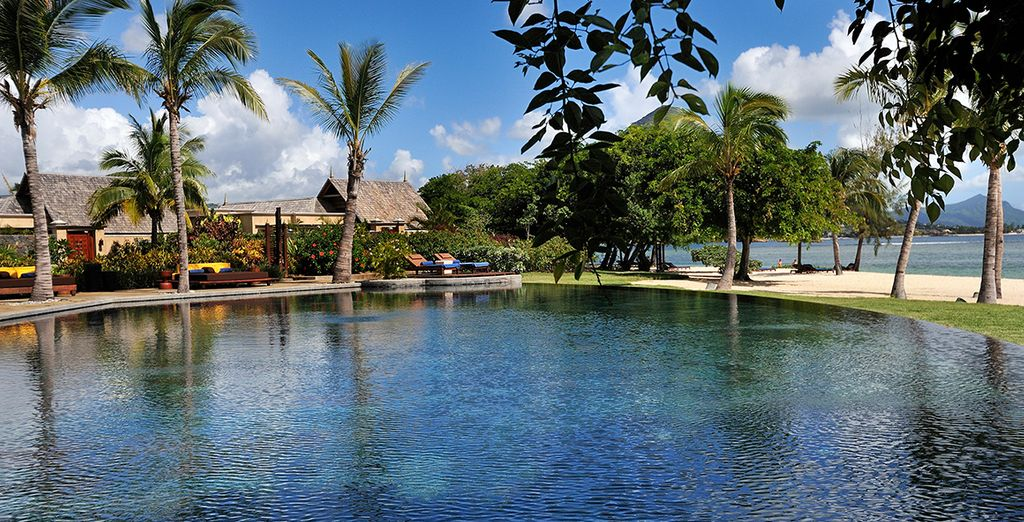 Take a dip in the main infinity pool