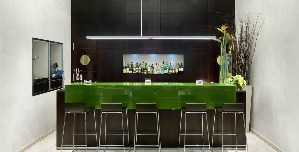 Enjoy a tipple at the the bar...