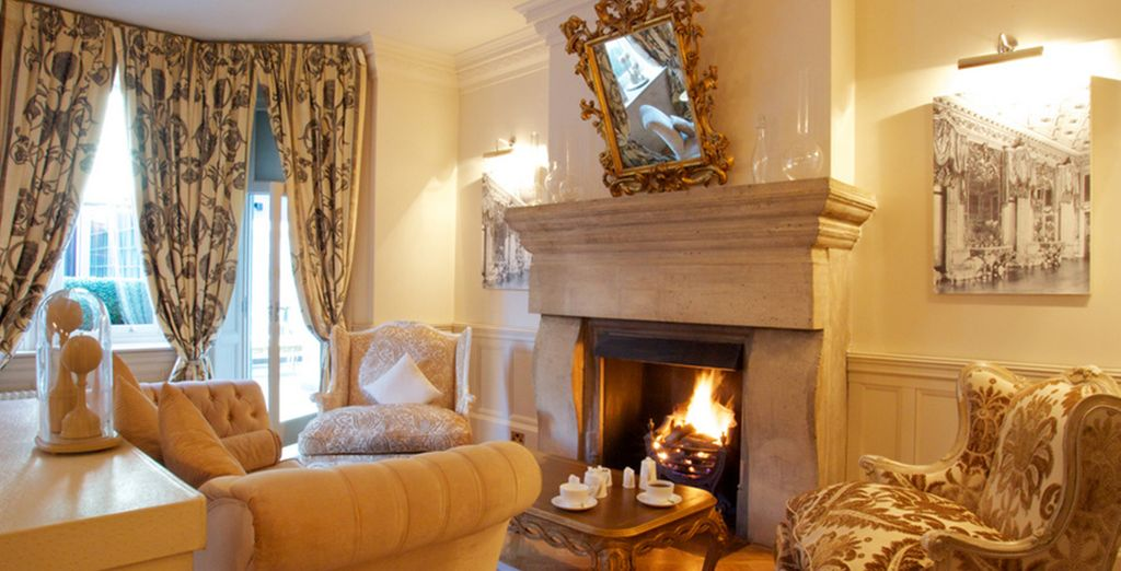 So enjoy relaxing by the fire in the drawing room...