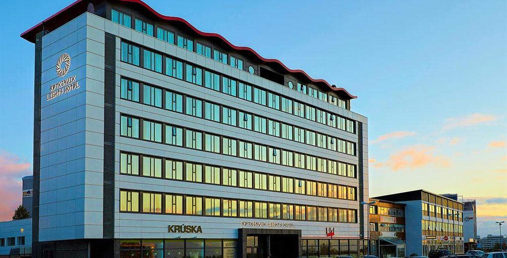 You will stay in the stylishly designed Reykjavik Lights Hotel 3*