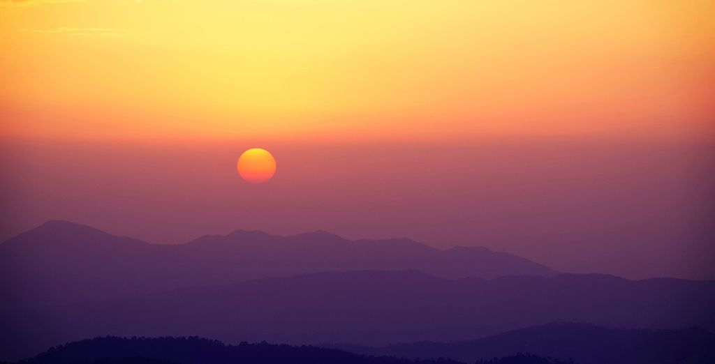And marvel at the magnificent Himalayan sunsets