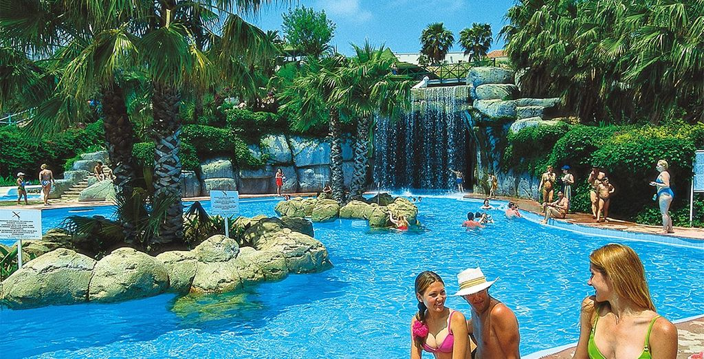 While kids will love the aquapark...