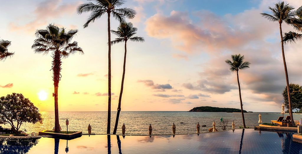 Soak up the sunshine by one of the two infinity pools