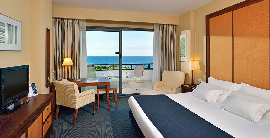 Stay in a superior room with a gorgeous sea view