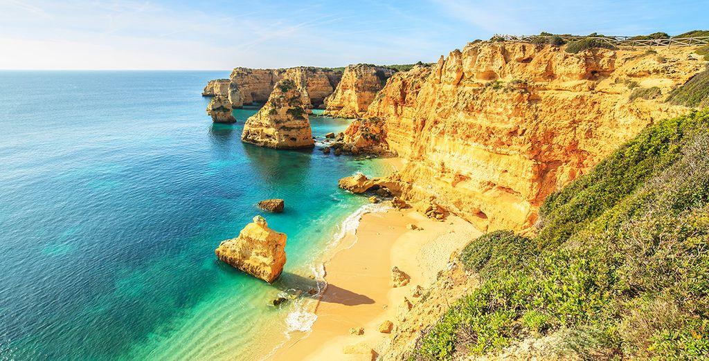 Or on the famous Praia da Rocha