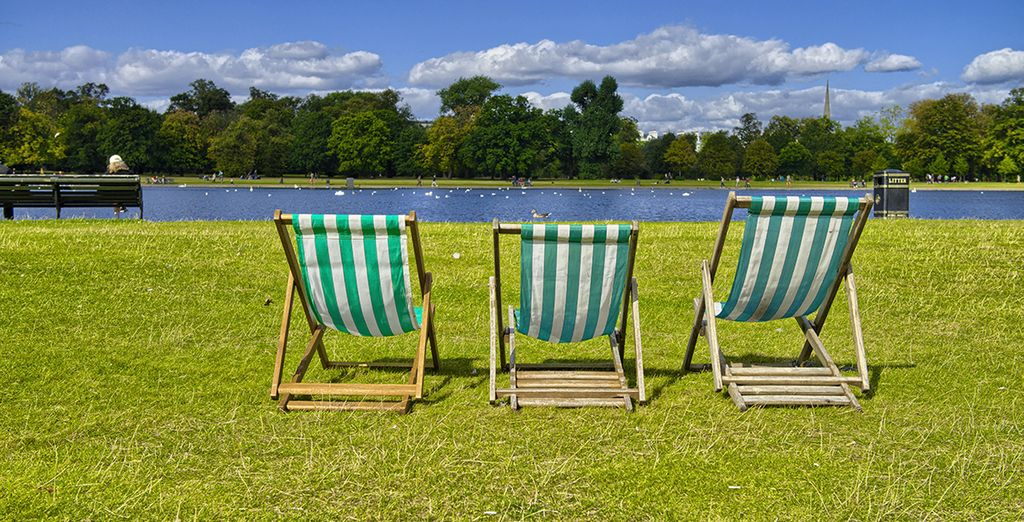 Or spend the day enjoying the Languid beauty of nearby Hyde Park