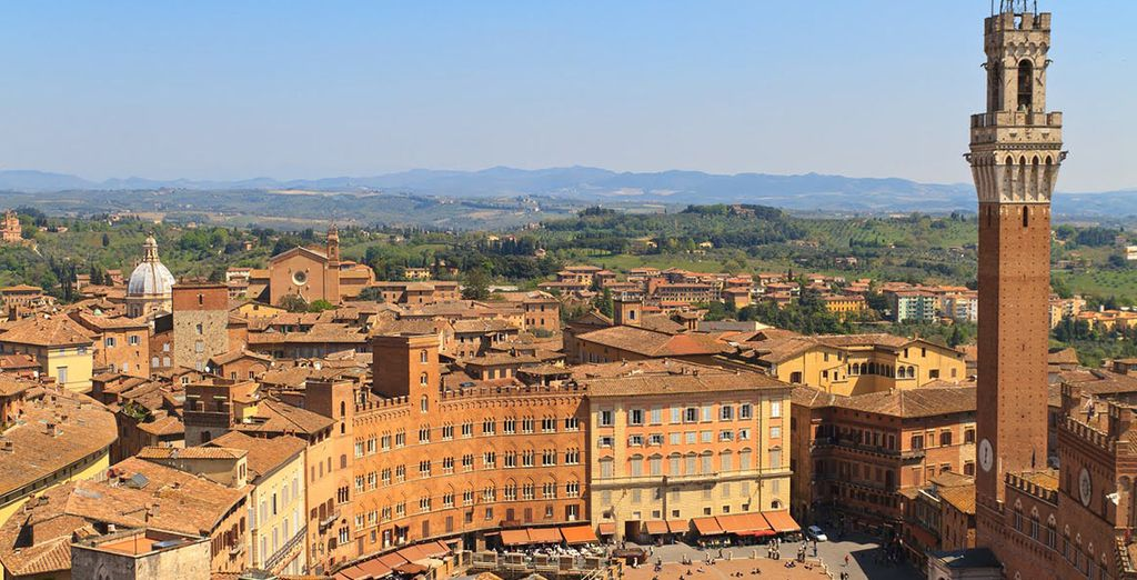 Add car hire and drive to nearby Siena...