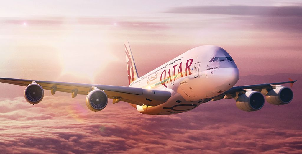 We've negotiated special rates with Qatar Airways so you can travel in style