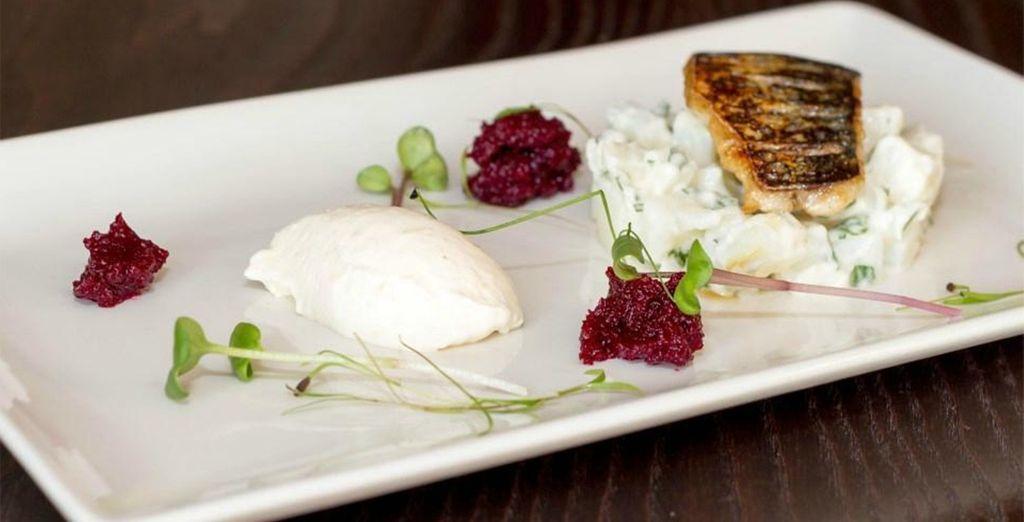 The restaurant offers creative British cuisine with a modern twist
