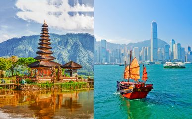 Tour da Java a Bali, con possibile estensione a Hong Kong